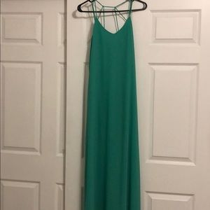 Sea green maxi dress